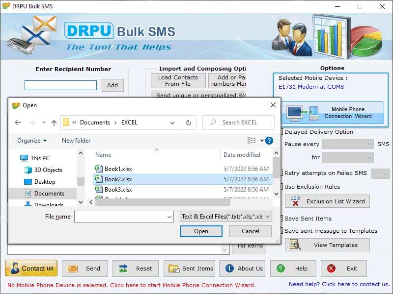 Windows 7 SMS Bulk Software 7.0.1.3 full